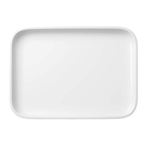 Villeroy und Boch Clever Cooking Rechteckige Servierplatte, 36 x 26 cm, Premium Porzellan, Weiß