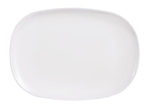 Dajar Servierplatte Sweet Line, Glas, Weiß, 35 x 24 x 2 cm