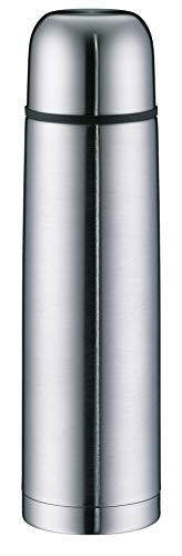 alfi 5457.205.100 Isolierflasche isoTherm Eco, Edelstahl mattiert, 1,0 Liter, Drehverschluss, 12 Stunden...