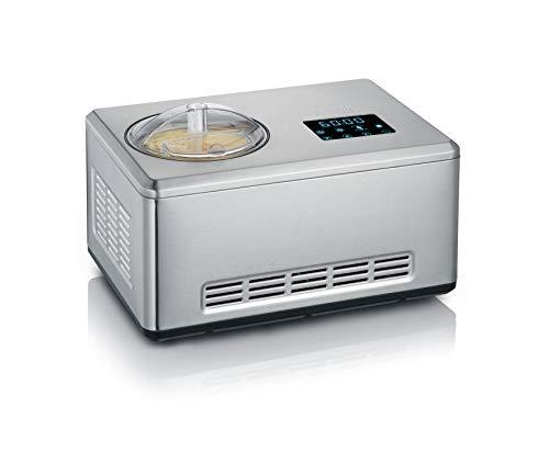 Severin 2-in-1 Eismaschine mit Joghurtfunktion, Inkl. 2 Eisbehälter (je 2L) und 1x Rezeptbuch, Digitaler...
