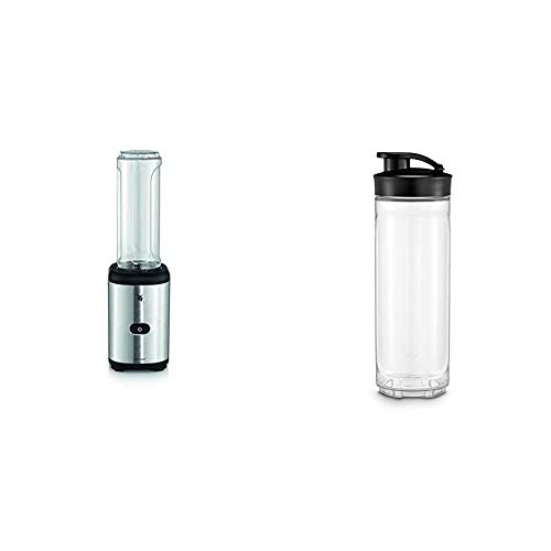 WMF Kult X Mix & Go Mini Smoothie Maker mit 2 Mixbehälter, Shake Mixer, Blender elektrisch, 300 Watt,...