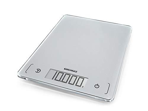 Soehnle Page Comfort 300 slim, digitale Küchenwaage, silber, Gewicht bis zu 10 kg (1-g-genau), Haushaltswaage...