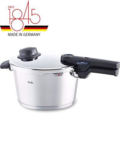 Fissler vitavit comfort / Induktions-Schnellkochtopf (4,5 L, Ø 22 cm) Edelstahl-Dampfkochtopf, 2 Garstufen,...