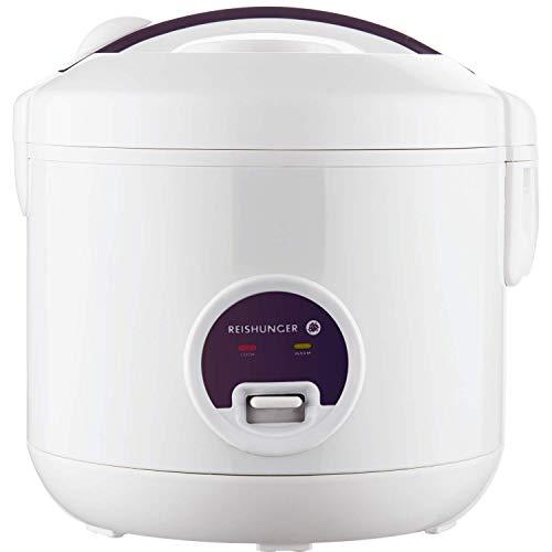 Reishunger Reiskocher (1,2l / 500W / 220V) Warmhaltefunktion, hochwertiger Innentopf, Löffel und Messbecher...