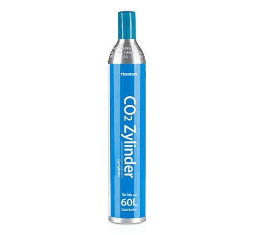 Homewit CO2 Zylinder | erstbefüllt in Deutschland | Pro Füllung bis zu 60 L Sprudelwasser | geeignet für...