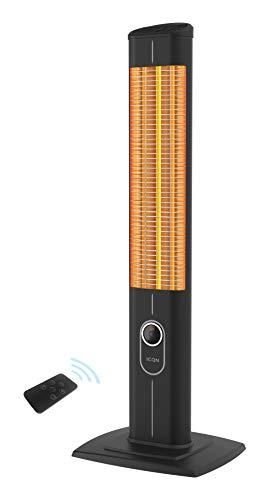 ICQN Stand Heizstrahler mit Fernbedienung   2500 Watt   Infarot   Infarotheizung für Innen- & Außenbereich  ...