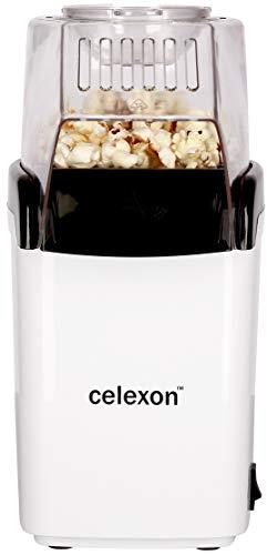 celexon CinePop CP150 Popcorn-Maschine - 13x19x29cm - Gewicht: 900g - weiß - einfach zu reinigen - ohne...