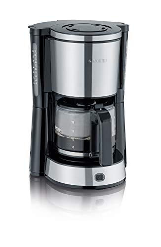 SEVERIN KA 4822 Type Kaffeemaschine (Für gemahlenen Filterkaffee, 10 Tassen, Inkl. Glaskanne)...