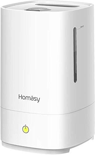 [Verbesserte]Homasy Ultraschall Luftbefeuchter,4.5L Top-Füllung Humidifier bis zu 40-50m², 28dB Ultra Leise...
