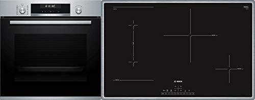 Bosch HND411LS61 Herd-Kochfeld-Kombination (Einbau) / A / 59,4 cm / Edelstahl / Klapptür / LED-Display /...