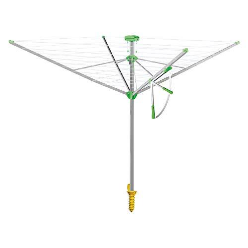 Juwel Wäschespinne Novaplus 600 Easy (Ein-Hand-Spannautomatik, besonders stabil, mit Eindrehbodenhülse, 51 m...