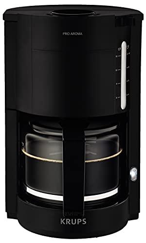 Krups F30908 ProAroma Filterkaffeemaschine mit Glaskanne   1,25L Füllmenge   10-15 Tassen   1050W   Schwarz