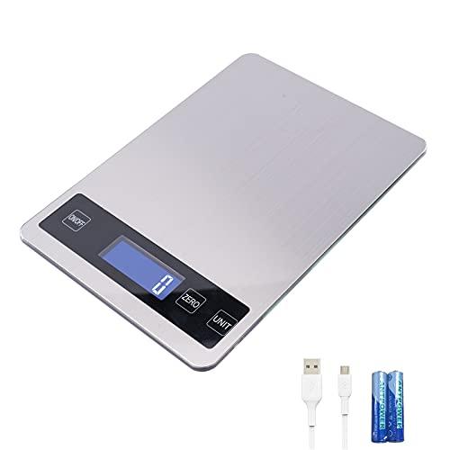 Vecoor Küchenwaage Digital 1g bis 15kg hochpräzise Digitalwaage Aufladbar Küchen Waage LCD Screen...