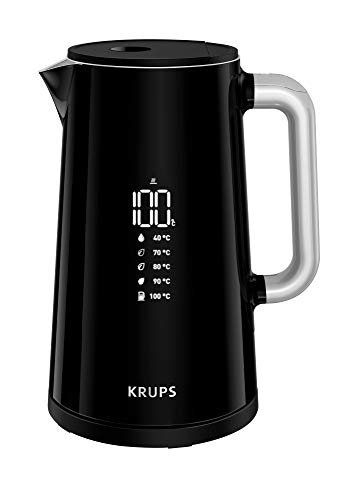 Krups BW8018 Smart'n Light Elektrischer Wasserkocher | 5 Temperaturstufen | Digitalanzeige | 30 Min....
