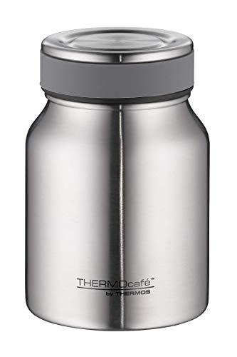ThermoCafé Thermobehälter für Essen, Lunchpot Edelstahl mattiert 500ml, Isolier-Speisegefäß für Suppe...