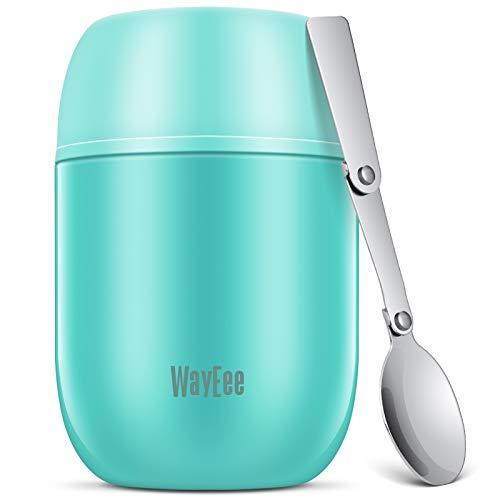 WayEee Thermobehälter für Essen 450ml Speisegefäß Edelstahl Speisebehälter Babybrei Isolierbehälter mit...