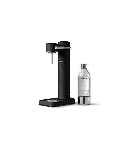 Aarke Carbonator 3 Wassersprudler mit Edelstahlgehäuse und premium PET-Flasche Mattschwarz