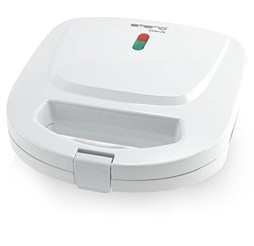 Emerio Sandwichtoaster, Sandwichmaker, Antihaftbeschichtung, ST-109724.3, 650 Watt, Weiß
