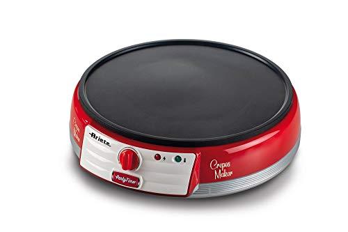 Ariete Maker Elektrische Crepes-Platte, 1000 W, antihaftbeschichtet, Rot