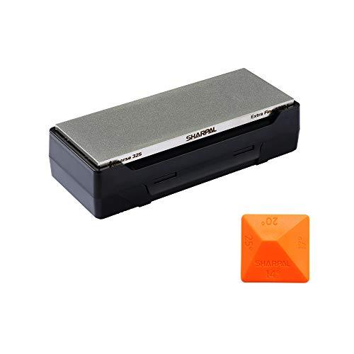 SHARPAL 162N Diamant-Schleifstein Abziehstein mit Aufbewahrungsbox, Dual Körnung, grob/extrafein, 325/1200...