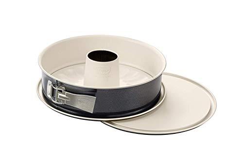 Dr. Oetker Springform mit Flach- und Rohrboden Ø 28 cm, Kuchenform mit 2 Böden, runde Backform aus Stahl mit...