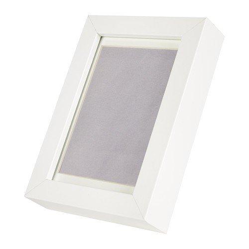 IKEA Glas-Bilderrahmen 'Ribba' weiß 17x12cm für 10x15 cm bzw. 8x12 cm Bilder mit Passepartout