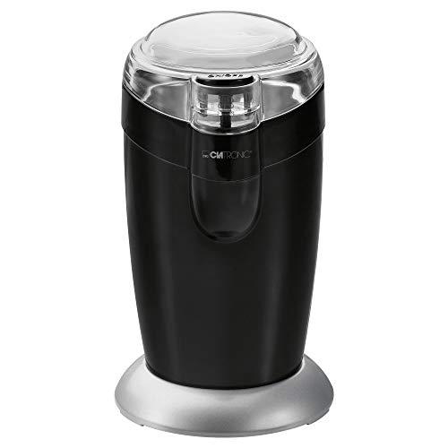 Clatronic KSW 3306 S // Elektrische Kaffeemühle mit Schlagwerk // Edelstahl // 40 g Fassungsvermögen //...