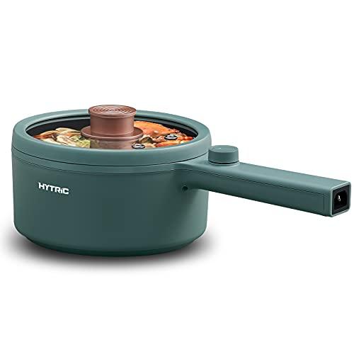 Hytric Elektrische Hot Pot, 1,5 l Tragbare Antihaft-Topf, Elektrische Topf für Braten, Steak, Ramen, Kleiner...