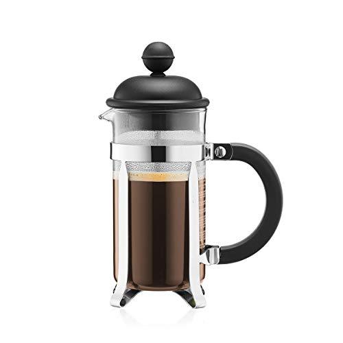 Bodum 1913-01 CAFFETTIERA Kaffeebereiter (French Press System, Permanent Edelstahlfilter, 0,35 liters) schwarz