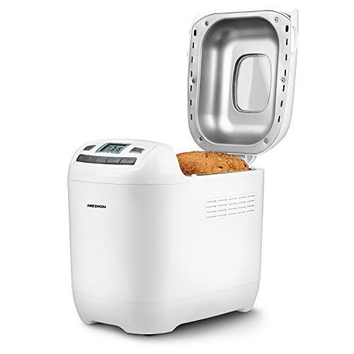 MEDION Brotbackautomat 650 Watt, 1000g, 12 Backprogramme, 3 Versch. Bräunungsgrade, Warmhaltefunktion, MD...