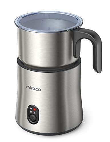 Milchaufschäumer, Miroco 500ml Entnehmbarer Automatischer Edelstahl Milchschäumer 4 in 1...