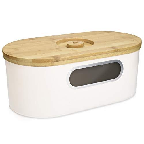Navaris Brotkasten mit Deckel aus Holz - Brotbox zur Aufbewahrung inkl. Schneidebrett - Brottopf Küche mit...