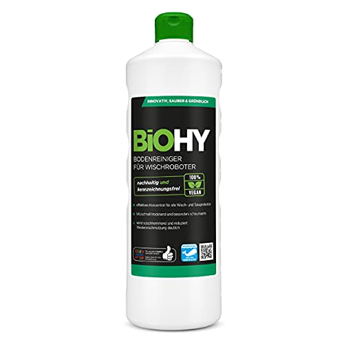 BiOHY Bodenreiniger für Wischroboter (1l Flasche) | Konzentrat für alle Wisch & Saugroboter mit...