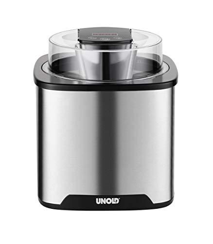 UNOLD 48855 EISMASCHINE Gelato, 1,5 L Volumen, ohne Kompressor, Sahneeiscreme in nur ca. 20-30 Minuten,...