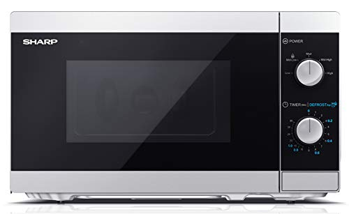 Sharp YC-MS01ES - 20-Liter-Mikrowellenherd mit Abtaufunktion, 5 Leistungsstufen, 800 W Mikrowellenleistung,...