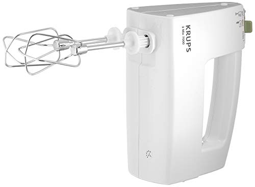 KRUPS 3 MIX 7000 Handmixer F6081 (500W, ergonomischer Griff des Mixers, stufenloser Geschwindigkeitsregler +...