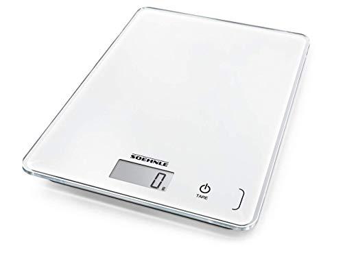 Soehnle Page Compact 300 digitale Küchenwaage bis zu 5 kg Tragkraft, Küchenwaage mit leicht ablesbarer...