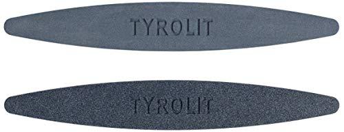 TYROLIT Life – Hochwertiger Wetzstein für scharfe Rasenmähermesser – 2er Set mit Körnung 100 & 240 –...