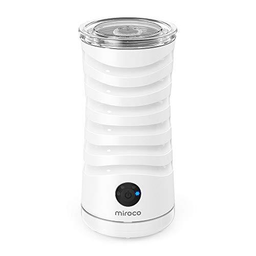 Milchaufschäumer Miroco Elektrischer Milch-Dampfer Milchschaum Doppelwandiger Milchwärmer mit extra...