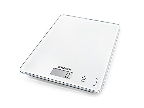 Soehnle Page Compact 300 weiß, digitale Küchenwaage bis zu 5 kg Tragkraft, Küchenwaage mit leicht...