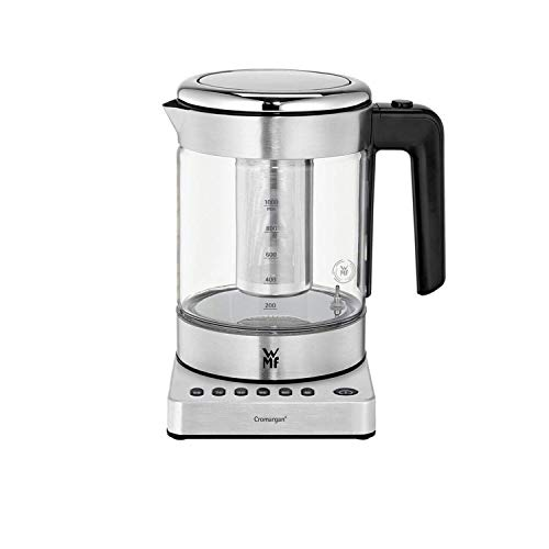 WMF Küchenminis 2 in 1 Vario Wasserkocher, mit Temperatureinstellung, 1,0l, 1900 W, Teekocher Glas mit...