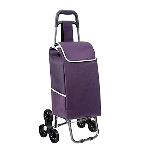 WYZXR Faltbarer Treppensteigender Einkaufswagen Tragbarer Reiseanhänger Haushaltsgepäckwagen Einkaufswagen...