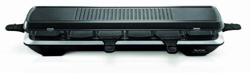 Tefal RE 5228 Raclette Simply Line 6 Inox & Design (1050 Watt, 6 Pfännchen, klassische und Teppan...