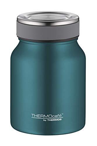ThermoCafé by THERMOS Thermobehälter für Essen, Edelstahl Türkis 500ml - Isolier-Speisegefäß für Suppe...