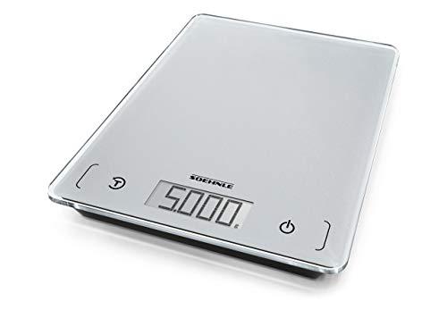 Soehnle Page Comfort 100, digitale Küchenwaage, silber, Gewicht bis zu 5 kg (1-g-genau), Haushaltswaage mit...