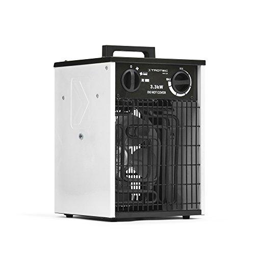 TROTEC Elektroheizer TDS 20 Heizer Heizlüfter Heizung Überhitzungsschutz 3 Heizstufen 3,3 kW Gebläsemotor...