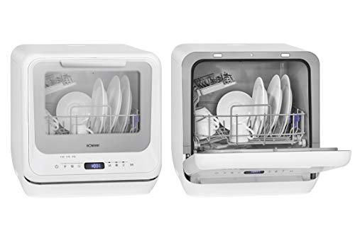 Bomann TSG 7402.1 Mini-Geschirrspüler, mit und ohne Wasseranschluss nutzbar, 5 Programme, 5L Wassertank und...