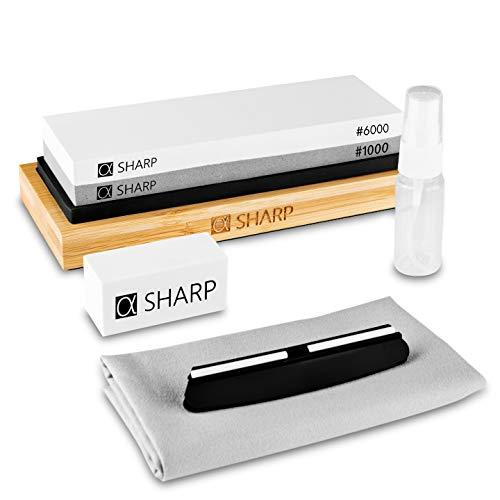 SHARP - Messerschärfer Profi mit Zufriedenheitsgarantie durch schnelle Ergebnisse - Schleifstein zum Messer...