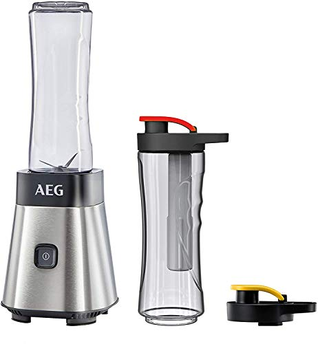 AEG MiniMixer SB 2700 Standmixer / 0,4 PS-Power-Motor / 23.000 U/Min / 2 spülmaschinen- und bruchfeste 600 ml...