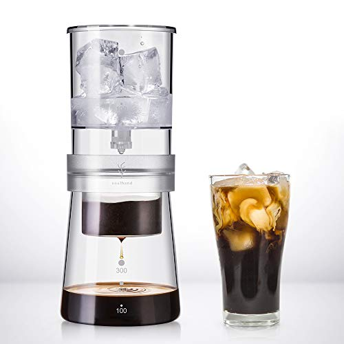 SOUL HAND soulhand Cold Brew Kaffeemaschine, Cold Brew Dripper(4 Tassen/400ML) Verstellbarer Eistropftropf...